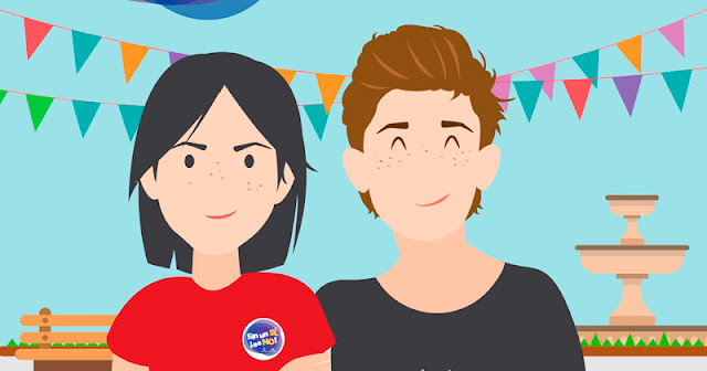 vista parcial del cartel de la campaña