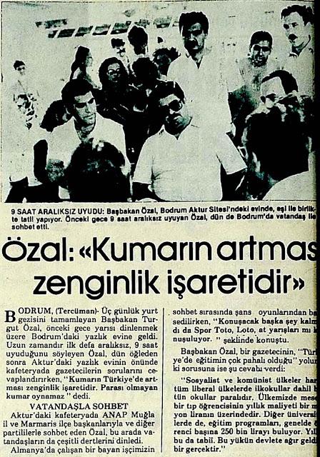 Turgut Özal Kumar Hakkında Ne dedi?