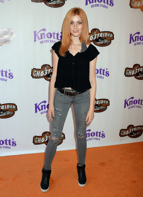 Actress, @ Katherine McNamara - Ghost Rider Rides Again Event at Knotts Berry Farm in Buena Park