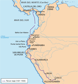 3° Viaje de Pizarro