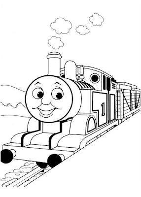 Gambar Mewarnai Thomas and Friends - 11