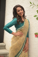 Tejaswi Madivada looks super cute in Saree at V care fund raising event COLORS ~  Exclusive 053.JPG