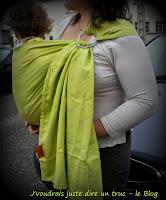colimaçon et cie tissu écharpe coudre sling portage review avis colimaçon & cie