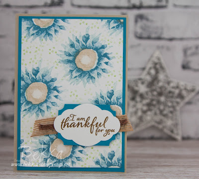 Marina Mist Painted Harvest Thank You Cards.  Buy your Stampin' Up! UK Supplies here