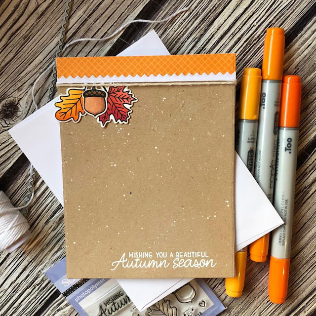Sunny Studio Stamps: Beautiful Autumn Autumn Themed Customer Card by Noga Shefer