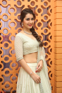 Raashi Khanan looks stunning in Crop Top Deep neck Choli Ghagra Transparent Chunni WOW ~  Exclusive Celebrities Galleries 050.JPG
