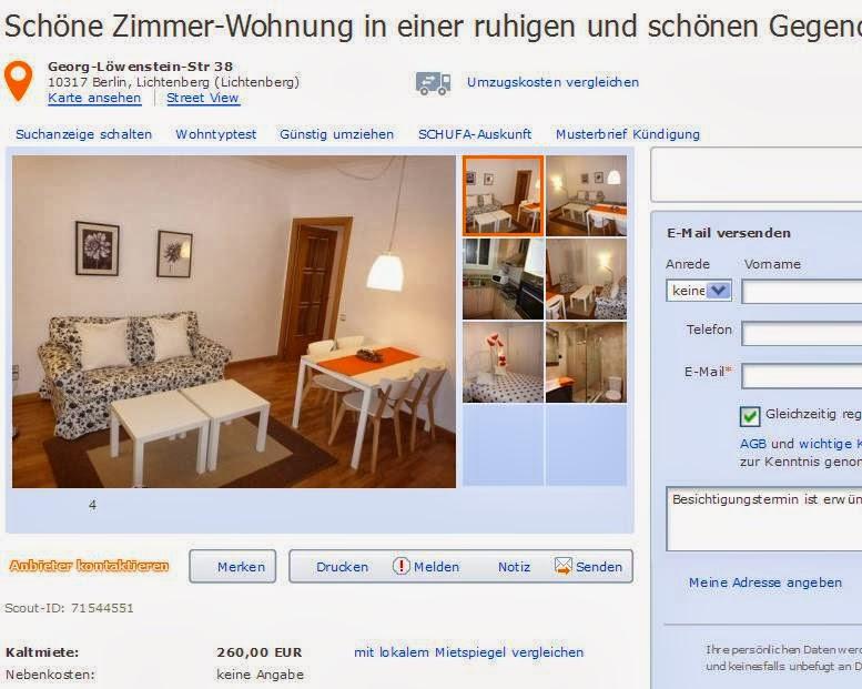 Zimmer Wohnung Berlin Lichtenberg
