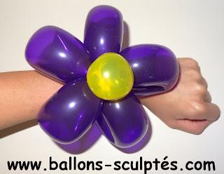 bracelet ballons en forme de fleur
