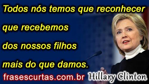 Hillary Clinton frases curtas