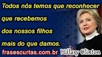 Frases Curtas de Hillary Clinton