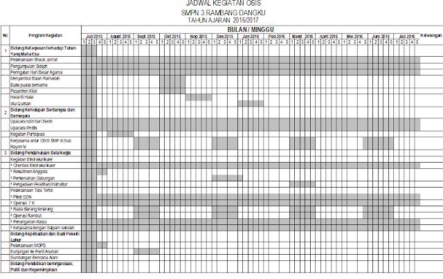 gambar jadwal kegiatan OSIS SMP