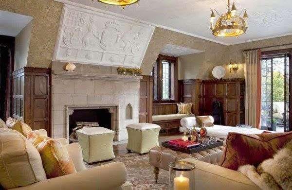 Contoh desain ruang keluarga mewah yang nyaman dan elegan