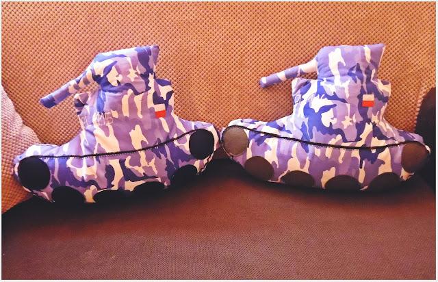 Poduszki dla małych czołgistów