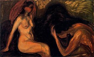 Эдвард Мунк. Мужчина и женщина. 1898