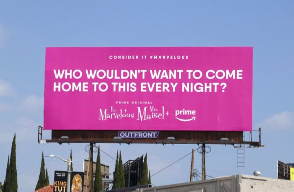 come home to this Marvelous Mrs Maisel Emmy FYC billboard