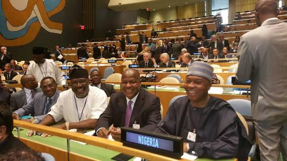 Saraki, Dogara At The UN Conference Of Parliamentary Heads In USA Today (Photos)
