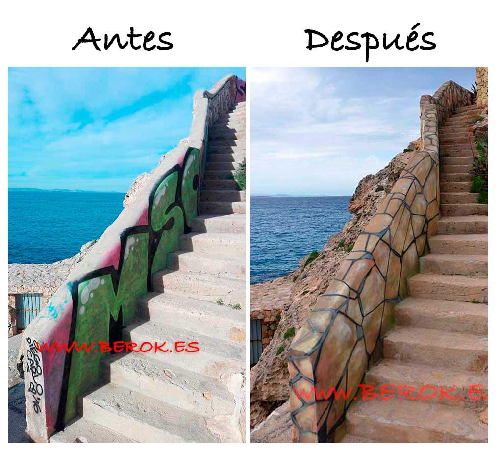 Berok graffiti mural profesional en barcelona c mo - Como limpiar grafitis ...