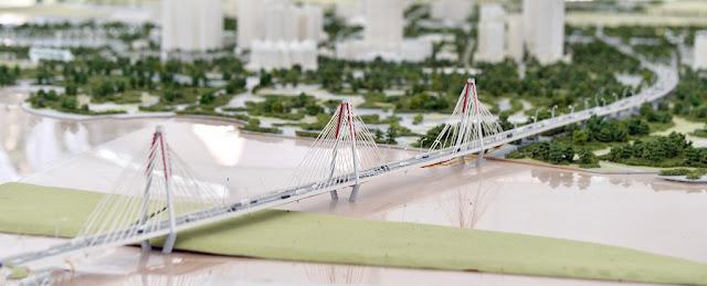 Quy hoạch cầu Tứ Liên đang được xây dựng