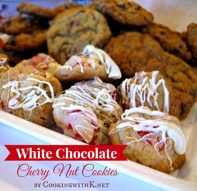 White Chocolate Cherry Nut Cookies
