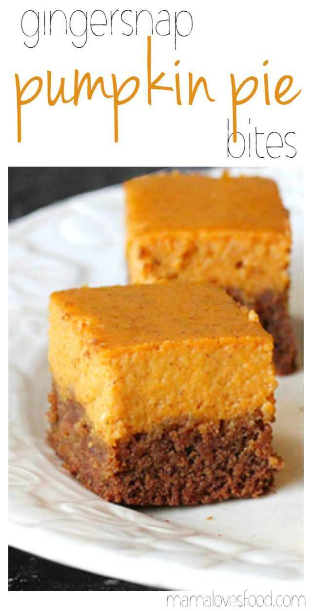 Gingersnap Pumpkin Pie Bites