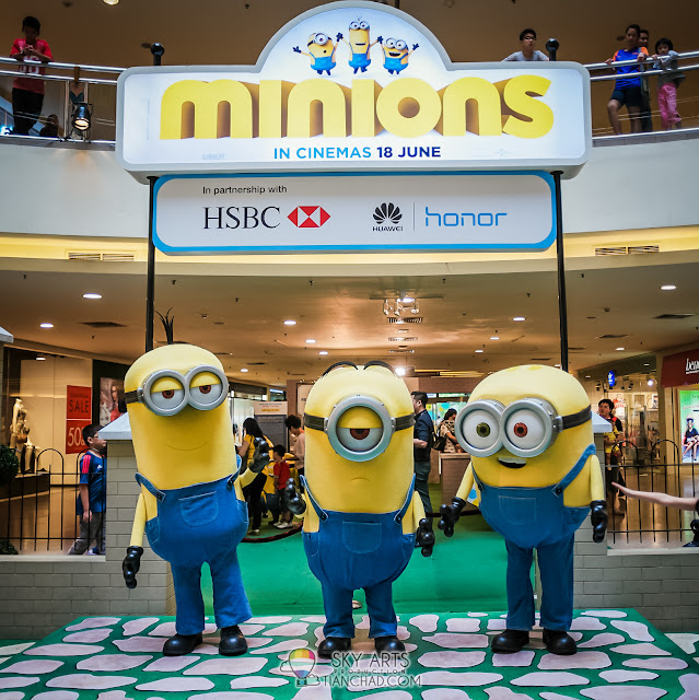 Meet Kevin, Stuart and Bob Minions Character everyday at 1pm, 4pm and 7pm