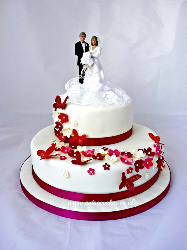 Red And White Wedding Cakes 80 Unique Two Tier Wedding Cake