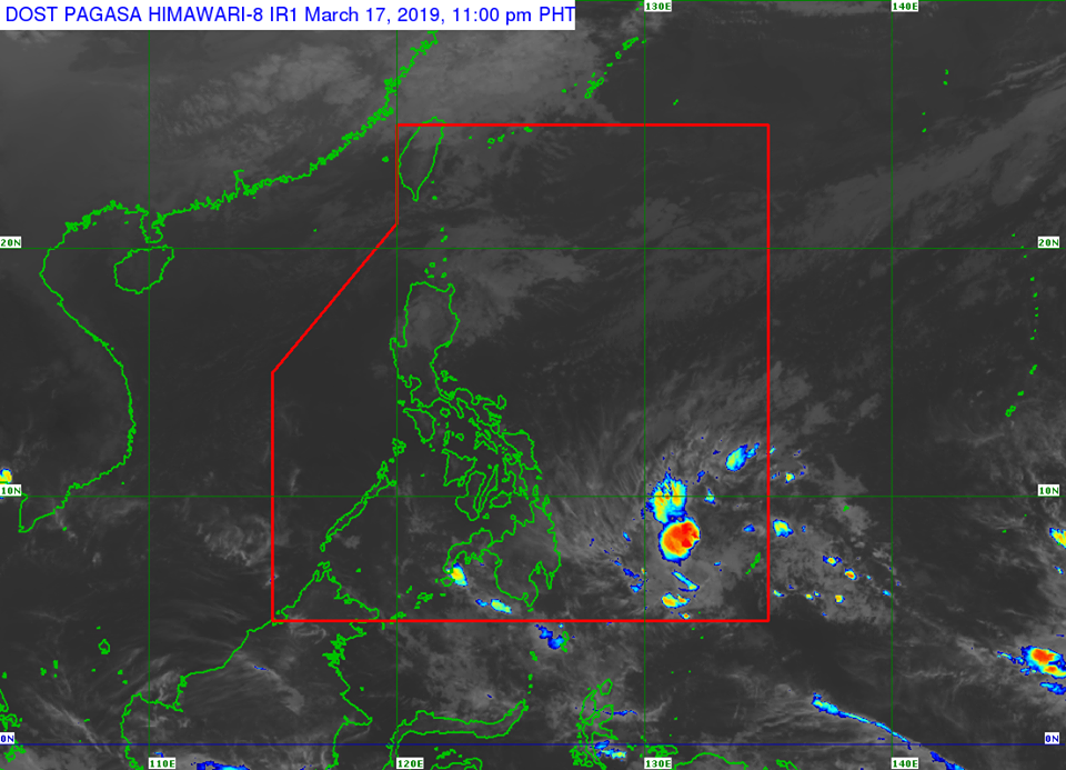 'Bagyong Chedeng' PAGASA weather update March 18, 2019