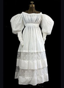 fc4d76c01487 Ankle length skirts became quite full and needed several petticoats beneath  for support. This produced the 19th century's first version of an hourglass  ...