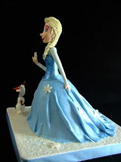 Tarta Elsa vestido modelada