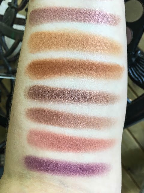coastal scents shadow pots hot pots 2017 palette antique maroon oatmeal tan oktoberfest burnished wine earth rose paprika tyrian purple swatch swatches swatched
