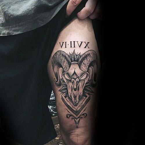 erkek üst bacak dövme modelleri man thigh tattoos 2