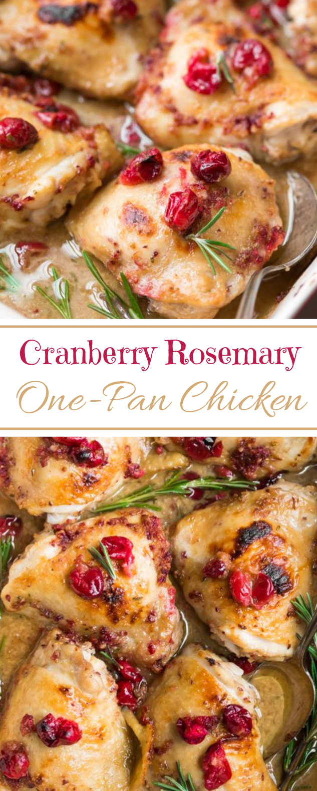 Cranberry Rosemary One Pan Chicken #paleo #whole30