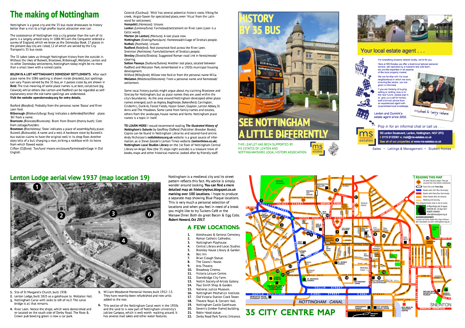 i will be launching a new edition of my 35 history bus leaflet at the lenton priory martinmass fair on 14 october 2017 here is a preview