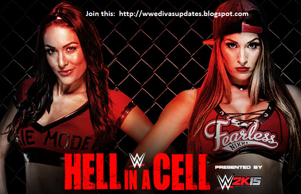 WWE 2K15 Brie Bella vs Nikki Bella WWE Hell in a Cell 2014 ...