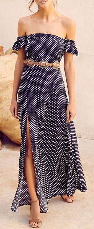 cute summer outfit: maxi dress