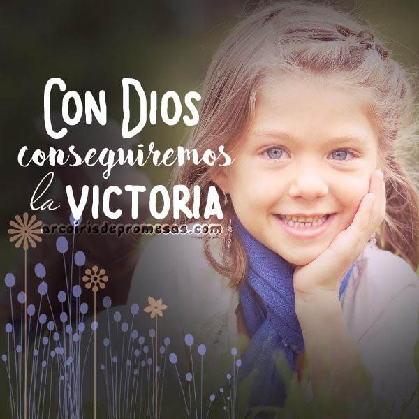 con dios siempre tendremos victoria mensajes cristianos con imágenes arcoiris de promesas