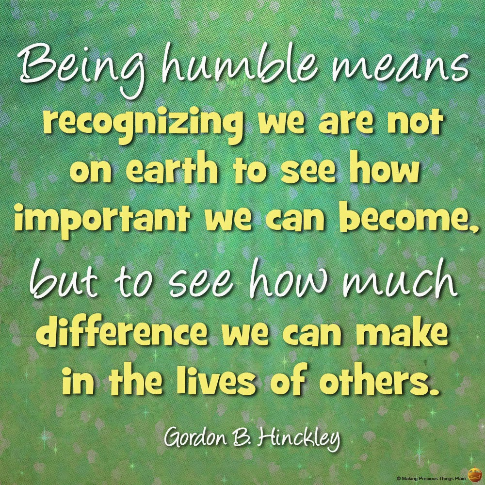 Living Stone Faith: Living A Humble Life Is Good For You