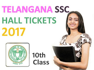 Telangana SSC Hall Ticket 2017, Telangana TS 10th Class 2017 Hall Ticket