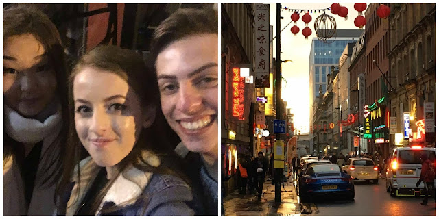 Selfie with friends and Chinatown, Manchester