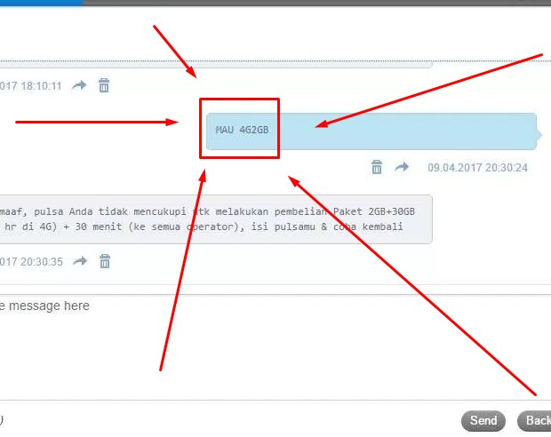 Cara Daftar Paket Internet Tri 32GB Rp 45000 Lewat Kirim SMS