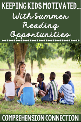 Check out this post for several summer reading opportunities and ideas to keep your kids motivated to read all summer long. Freebies included.