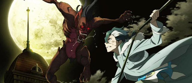 luta entre o personagem Yuliy e um vampiro do anime sirius the jaeger