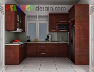 Kitchenset Pelangi Desain Interior Kitchen Set Model Bentuk Huruf U
