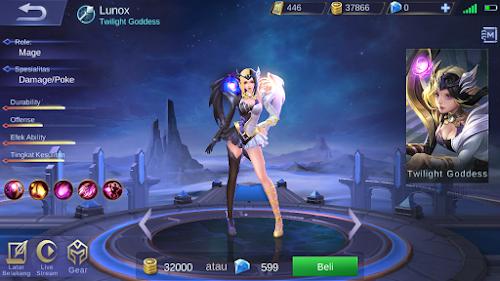 Hero Baru Mobile Legends Lunox Twilight Goddess