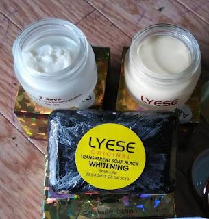 Paket Cream Lyese JUMBO Sabun HITAM Whitening