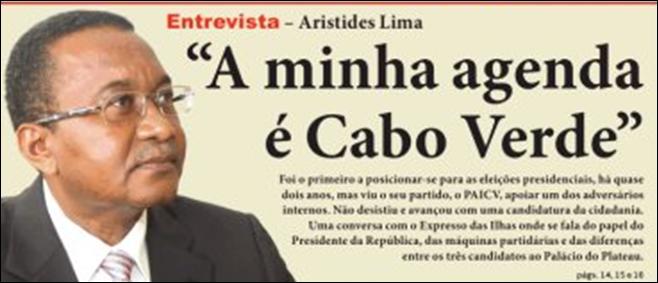 presidenciais cv 2011  entrevista a aristides lima