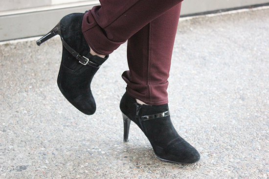 Nine West Black Suede Metra Booties Fall Boots