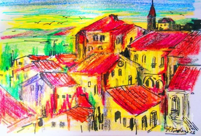 Итальянские деревни и пейзажи. Roberto Gagliardi 13