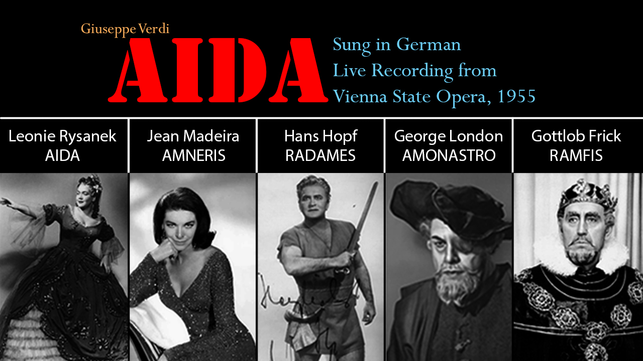 AIDA sung in German, Vienna 1955