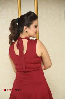 Telugu Tollywood Anchor Manjusha Pos in Red Short Dress  0024.JPG
